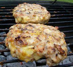 Grilled Cheesy Apple Pie Chicken Burgers