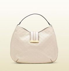 ShopStyle: Gucci'new Ladies Web' Large Hobo With Engraved Script Logo.