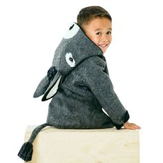 Donkey 2016 New Arrival Baby Boys Coat Animal Shaped Hooded Children Clothing With Tail Winter Warm Thick Coat For Kids Boys