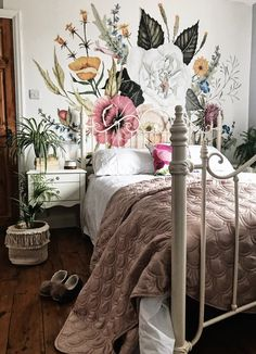 Wallpaper mural in the bedroom. Wallpaper mural in the bedroom. The post wallpaper mural in the bedroom. appeared first on wallpaper ideas. My New Room, My Room, Dorm Room, Decoration Design, Dream Rooms, Home Bedroom, Bedroom Ideas, Bedroom Inspo, Master Bedroom