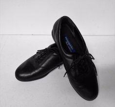 Easy Spirit Anti Gravity Black Leather Lace Up Shoe Sz A Narrow Oxfords 9010 Lace Up Shoes, Dress Shoes, Leather And Lace, Black Leather, Anti Gravity, Oxfords, Oxford Shoes, Spirit, Casual