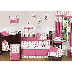Sweet Jojo Designs Happy Owl 9-piece Crib Bedding Set   Overstock.com Shopping - Big Discounts on Sweet Jojo Designs Bedding Sets
