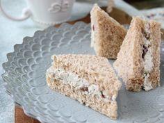Tarragon Chicken Salad Tea Sandwiches from CookingChannelTV.com