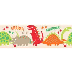 Fine Decor Dino Multi Border