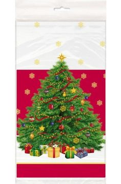Starry Christmas Tree Plastic Tablecover - Christmas & Winter Party Decoration & Tableware Ideas