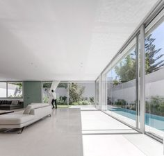 Villa Agava presents closed facade to the street but opens up at the rear