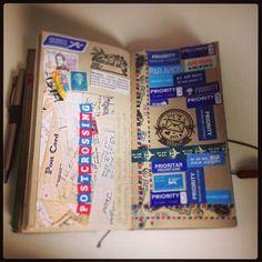 Love for postcrossing #midoritravelersnotebook