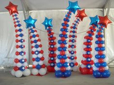 Fourth of July? Memorial Day? Just feeling patriotic?! We can cover all of your needs with our patriotic themed balloons.