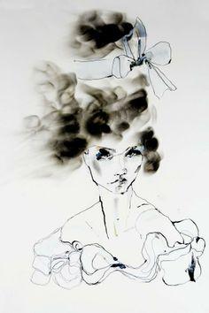 Fashion illustration - artful, expressive fashion sketch // Eleanor Rose Shenton