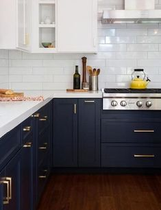 Midnight blue kitchen cabinets for 2018