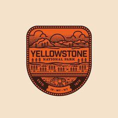 005 - Yellowstone National Park - Wyoming Montana Idaho  #graphicdesign #design…