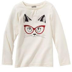 Camiseta estampada de manga larga niña T Shirt Painting, Custom T Shirt Printing, Cat Shirts, Diy Shirt, Pull, Diy Clothes, Fabric Design, Kids Fashion, Shirt Designs