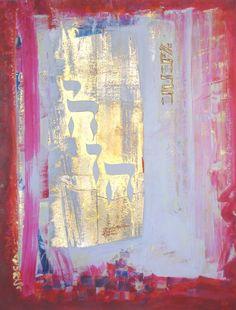 Élévation Jewish Crafts, Jewish Art, Art Prophétique, Spiritual Paintings, Flower Painting Canvas, Prophetic Art, Biblical Art, Mandala, Sacred Art