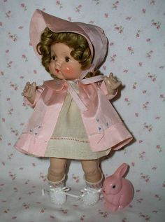 "RARE 1937 Horsman 13"" JoJo Doll -- ALL ORIGINAL-- Perfect Cabinet Sized"