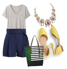 """Verão"" by depaulahemely on Polyvore featuring prAna, Sea, New York and Talbots"