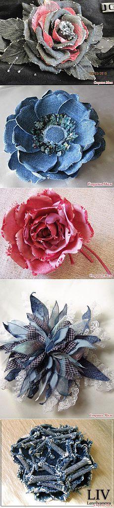 Kvety džínsy.  Nápady z Internetu.  - Denim zázraky!  - Domáce Mamičky