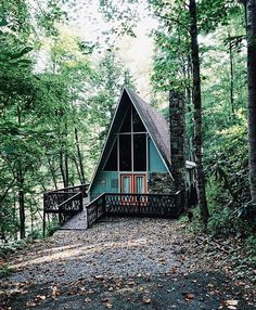 Are A-frame Cabin Kits Worth it? A Frame House Plans, A Frame Cabin, Tiny House Cabin, Cabin Homes, Summer Cabins, Forest Cabin, Barn Parties, Getaway Cabins, Cabin Kits