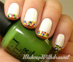 Makeup Withdrawal: Twister Manicure. I love this, but I think I would use non-Twister colors. ;]