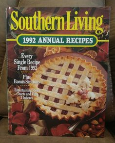 $16.95 OBO! Southern Living CookBook 1992 Annual Recipes Oxmoor HC Vintage Collectible