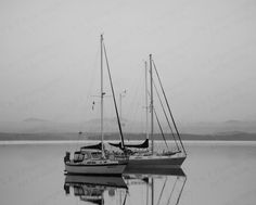 BLACK AND WHITE Photograhy, B & W sail boat, Sailing photo, nautical historical, ocean photo, wall art, fine art gift, home decor