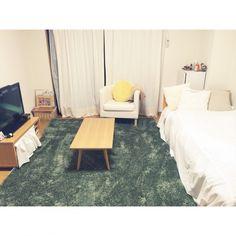 ラグ /狭い部屋 /1人暮らし 部屋全体/ひとり暮らし 1K/1人暮らし 賃貸…などのインテリア実例 - 2015-01-29 13:16:40 | RoomClip(ルームクリップ)