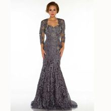 Elegant Sweetheart Mermaid Brown Lace Beaded Floor Length Sexy Fashion Mother Of The Bride Dresses Evening Gowns 2013 Jacket(China (Mainland))