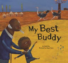 """(Picture Book) Kim, Y., & Tanco, M. (2015).""""My best buddy."""" Chicago, IL: Norwood House Press. This book demonstrates the many ways that students may be diverse, including age, physical ability, and cultural background. The illustrations are created using a collage and paint technique that is unique and quite appealing to the eye. The colors black and white are used to indicate to readers which illustrations took place in the past. The suggested reading level is kindergarten through second…"""