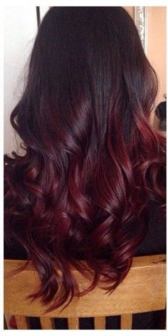 Deep red purple ombre