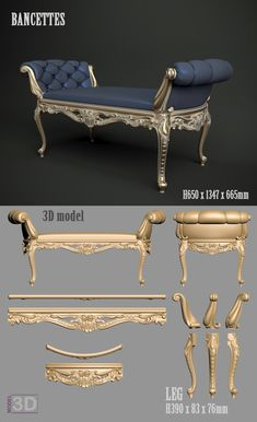 A1151  Bancettes  3D model for cnc router...cnc-model.com King Furniture, Royal Furniture, Luxury Home Furniture, Victorian Furniture, French Furniture, Classic Furniture, Unique Furniture, Bedroom Furniture, Furniture Design