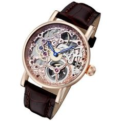 Rougois Rosarita Gold Mechanical Rose Gold Skeleton Watch RS10005, http://www.amazon.com/dp/B007RDQA5W/ref=cm_sw_r_pi_awdm_x5Ypub158X1R7