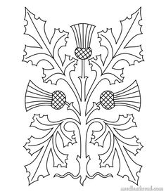 Mary Corbet free Stylized Thistle design