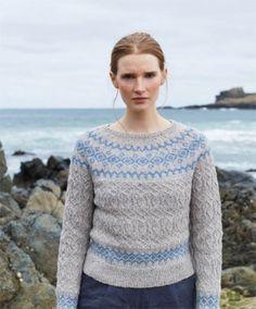 Nordic inspired fair isle yoke sweater pattern, nordic knitting pattern