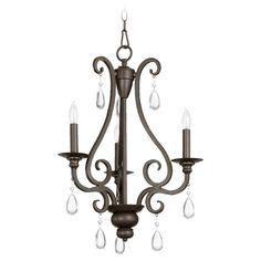 Quorum Lighting Anders Oiled Bronze Mini-Chandelier | 6013-3-86 | Destination Lighting