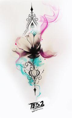 Tattoo Design Tattoo Girl Tattoo Tattoo Flash Tattoo Flower Design Flower Tattoo rnrnSource by Great Tattoos, Trendy Tattoos, Beautiful Tattoos, New Tattoos, Small Tattoos, Tattoos For Women, Tatoos, Water Tattoos, Diy Tattoo