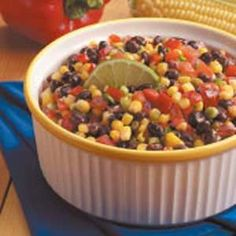 Quick Corn and Black Bean Salad This is one of the best NON Lettuce salads I've ever had!!
