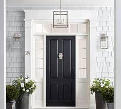 Landscape Lighting Design, Entry Doors, Front Doors, Entryway, Paris Apartments, Free Interior Design, Front Door Decor, Exterior Paint, Exterior Houses