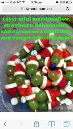 healthy snack idea for christmas party!