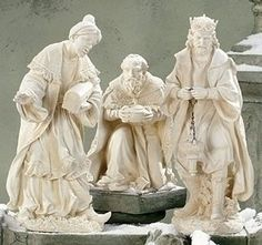 """3pc St 17-26.5""""3-Kings Garden by Roman. $458.00. This item may NOT arrive by Christmas if purchased after 12/19 regardless of shipping method chosen. Items not shipped in time for Christmas will not ship until Wednesday, January 2.. 17-26.5""""H. Resin. 3pc St 17-26.5""""3-Kings Garden"""
