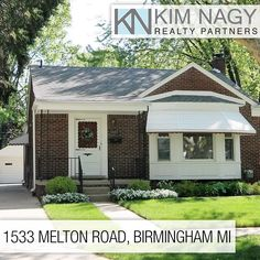 Just Listed | 1533 Melton Road  Desirable 3 bed 1.1 bath brick ranch in Birmingham with lots of charm! Move in ready meticulously clean.Nice size living room with bay window. Open concept floor plan with hardwood floors throughout areas of the home. Kitchen offers generous cabinetry,counter space and eating area. Fully finished basement adding to your living space capability. Florida room looks out onto your private backyard with brick patio surrounded by lush greenery.Grass