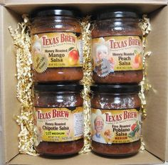 Texas Brew Sweet n Spicy Salsa Gift Box comes in a festive Christmas holiday greeting box and is perfect for the salsa loving person on your gift list this holiday season.  #TreasureJourneys