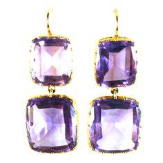 1stdibs - Cushion-Cut Amethyst Pendant Earrings explore items from 1,700  global dealers at 1stdibs.com