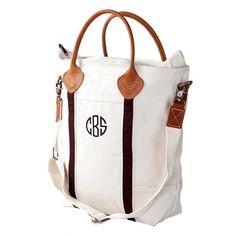 Monogrammed market bag