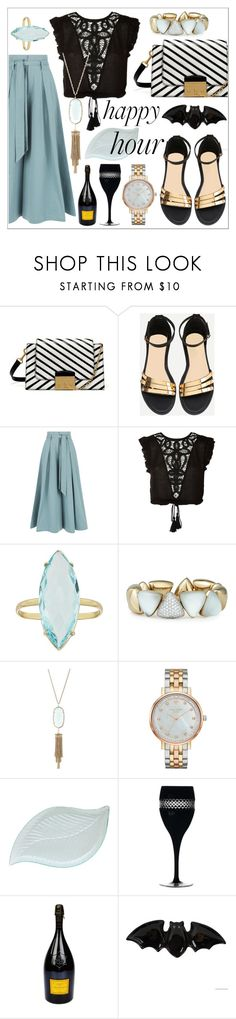 """816"" by robertaelisa ❤ liked on Polyvore featuring Mulberry, Temperley London, WYLDR, Vhernier, Kendra Scott, Kate Spade, Waterford and Fitz & Floyd"