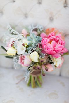 Southwestern bouquet: http://www.stylemepretty.com/wisconsin-weddings/2015/04/17/rustic-chic-desert-elopement-inspiration/   Photography: Maison Meredith - http://www.maisonmeredith.com/