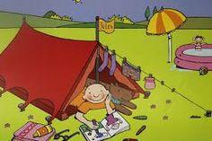 Afbeeldingsresultaat voor kampeervakantie cartoon dutch Holiday Cartoon, Happy Paintings, Advertising Poster, Children, Kids, Hello Kitty, Disney Characters, Fictional Characters, Family Guy