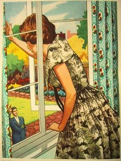 Beautiful use of color...  vintage children's book