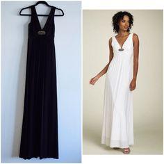 Bnwot Bcbg Maxazria Jersey Black Gown