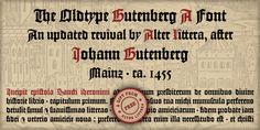 Alter Gotisch Font: This is Alter Littera's first original design. The font has been created by attempting not to reproduce any historical typeface in p. Calligraphy Fonts, Script Fonts, Character Map, Web Design Tutorials, Typography, Lettering, Free Fonts Download, Premium Fonts, Cool Fonts