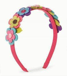 Arcos para cabelos com flores em feltro