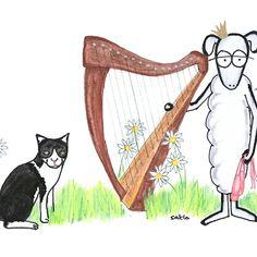 kleine Schafprinzessin Illustration, Moose Art, Animals, Little Princess, Children's Books, Sheep, Friends, Cats, Animales